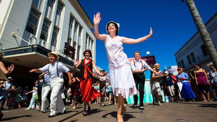 Napier's Art Deco Festival attracts thousands of visitors each year.