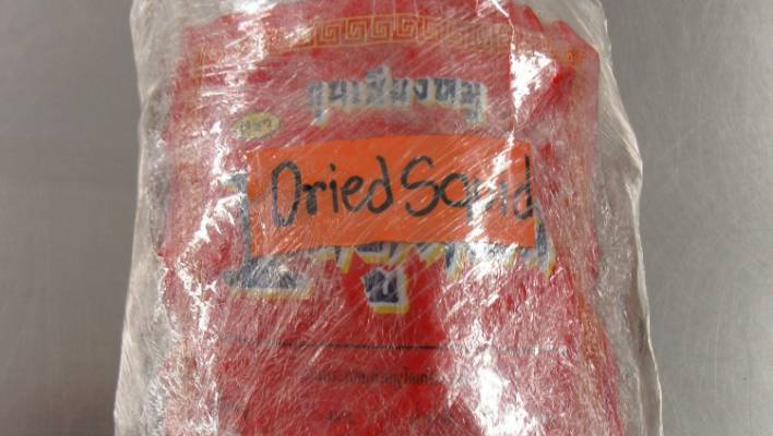 Last year two women were caught trying to smuggle pork sausages into the country hidden in packages of dried squid.
