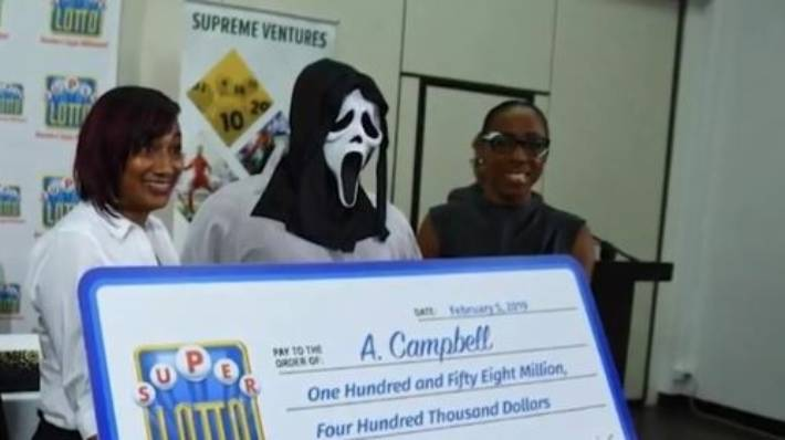 The Super Lotto winner was identified only as A Campbell.