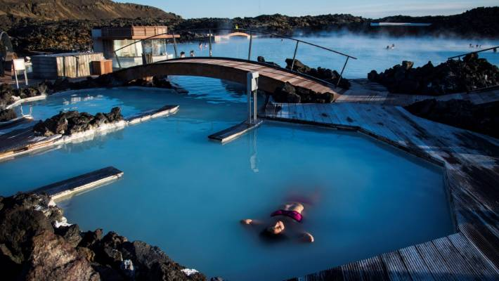 The Blue Lagoon, a geothermal spa which is one of the most visited attractions in Iceland.