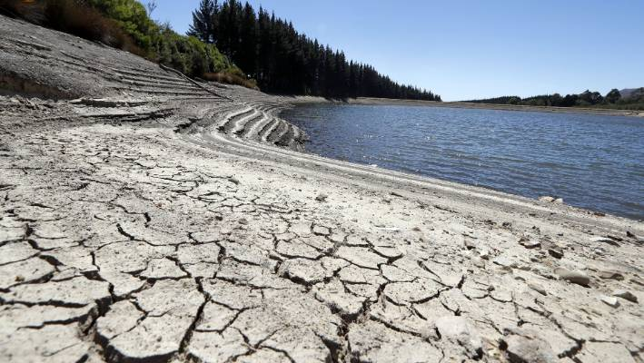 The Wai-iti Valley Community Dam in Tasman district was low on Wednesday.