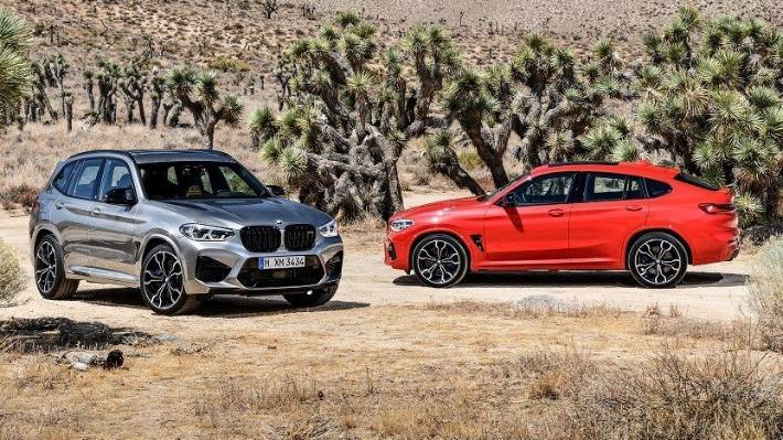 The X3 M and X4 M are available in two new M-exclusive colours - Doningtion Grey metallic and Torino Red metallic.