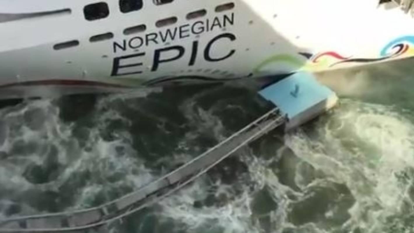 Norwegian Cruise Ship Crashes Into Dock In Puerto Rico