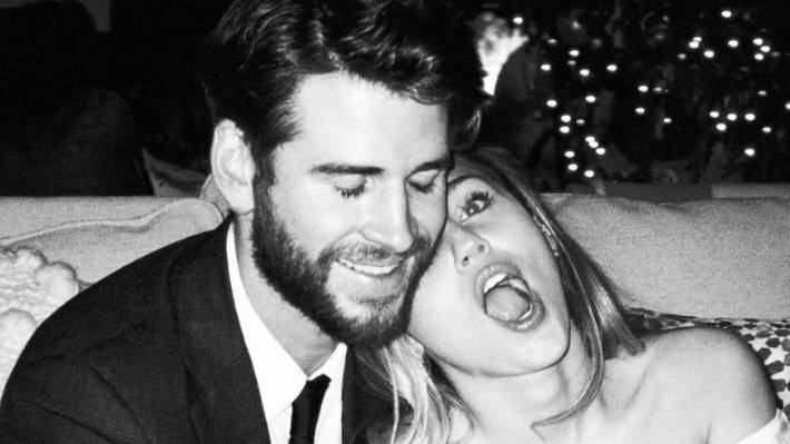 Miley Cyrus shares wedding photos with Liam Hemsworth for Valentines Day