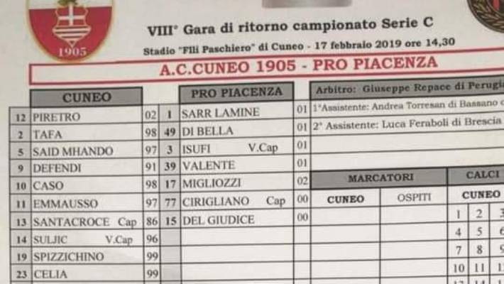 Serie C club Pro Piacenza expelled from league after 20-0 loss
