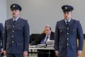 Aircraftman Morgan Robert Davies, left, and Aircraftman Cameron Fairbank are facing court martial at Ōhakea Air Force ...