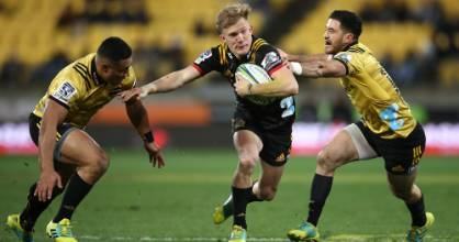 Damian McKenzie had to sit out the first game of the Super Rugby season against the Highlanders.