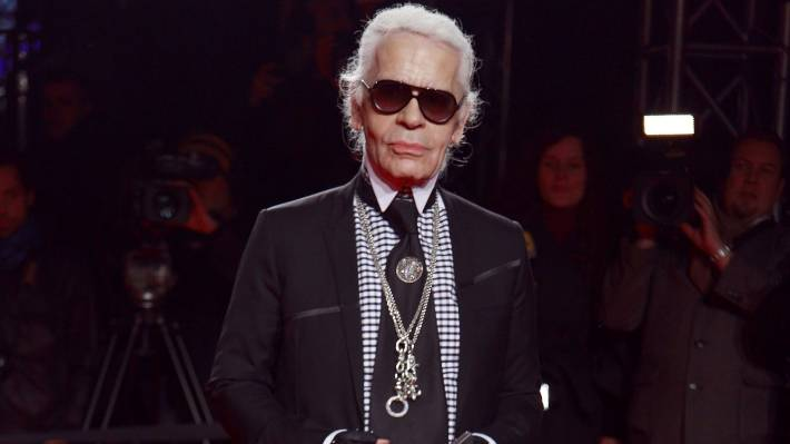f41f7524aa Karl Lagerfeld was known for his trademark shades.