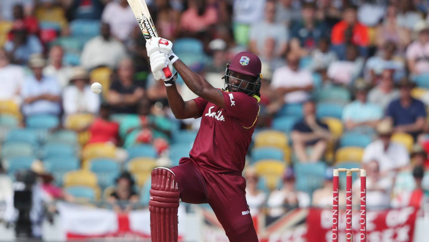 Chris Gayle hits 12 sixes for West Indies against England to break world record