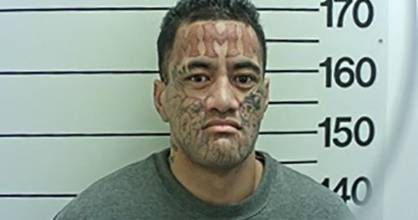 Rambo Barton was sentenced on Thursday for punching a co-defendant in the New Plymouth court dock in November.