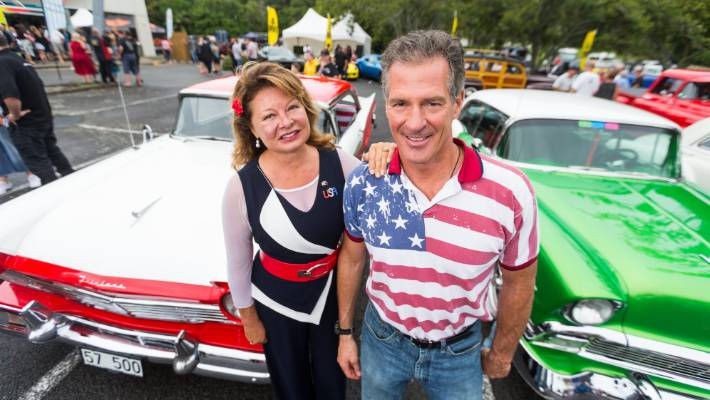 US Ambassador to NZ, Scott Brown, pictured with wife Gail, included a stop off at  Americarna during their stay in the region.