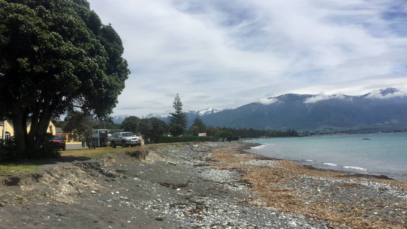 Police investigate 'old bomb' washed up on Kaikoura beach