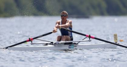 Jack O'Leary of the Waikato Rowing Club took out the men's senior single sculls title at the national championships in ...