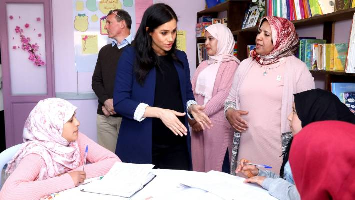 Prince Harry, Meghan visit mountain school in Morocco