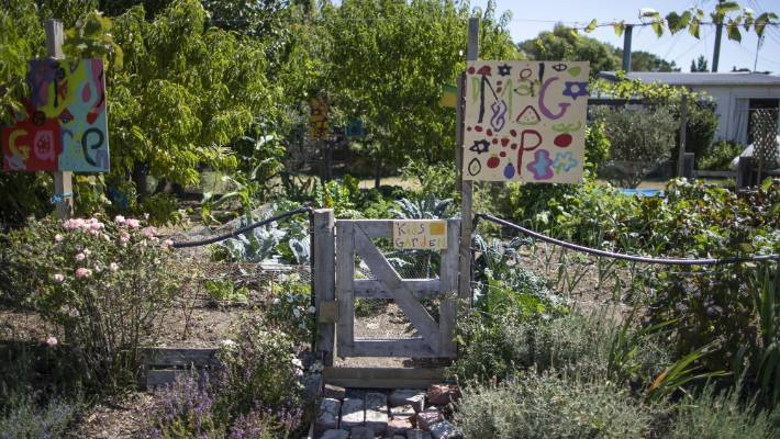 The tight-knight residents have their own community garden.