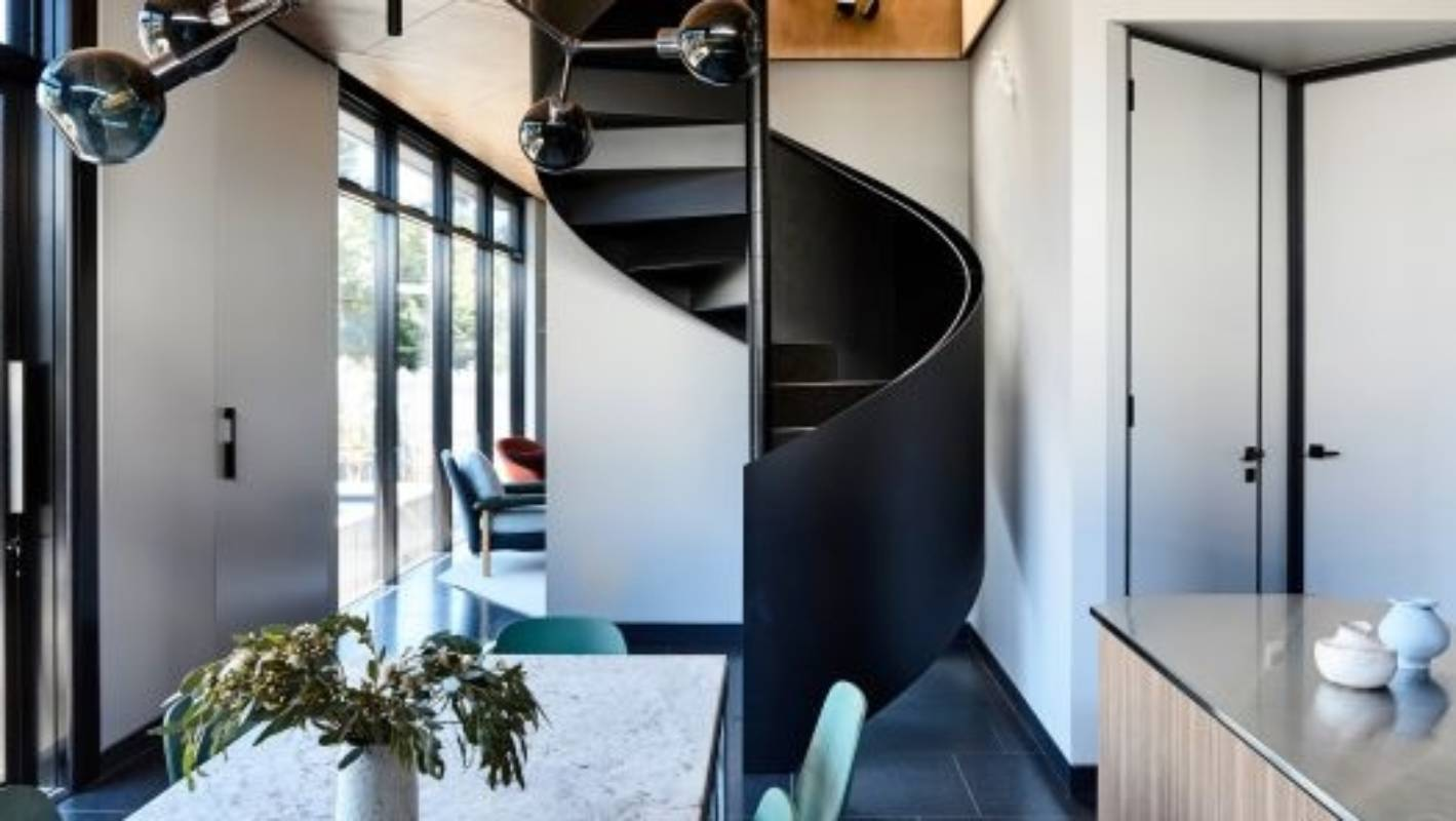 d4d993642f7be Stunning triangle house on tricky site replaces a corner milk bar |  Stuff.co.nz