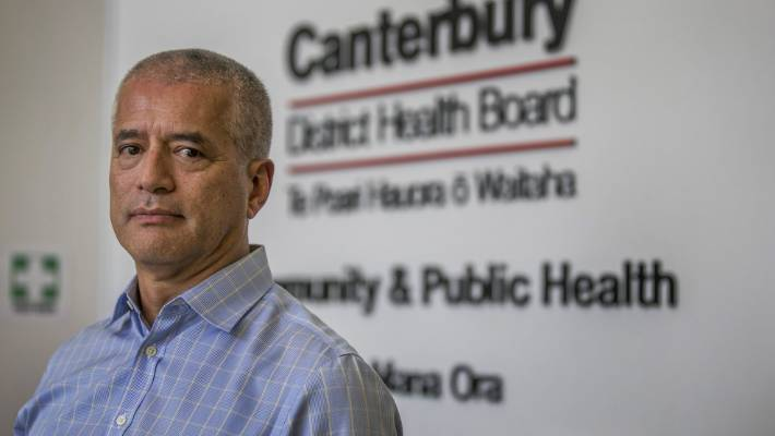 Canterbury medical officer of health Dr Ramon Pink speaks to media about the measles outbreak. (File photo)