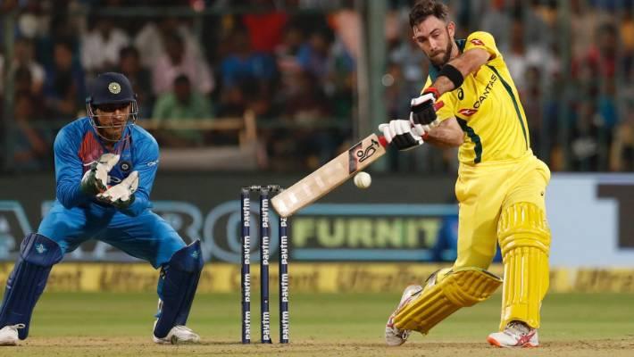 Australian Glenn Maxwell played an international second T20 match with Bangalore Indian opponent.