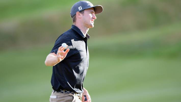 Kiwi Harry Bateman is a triplet after the opening round of the New Zealand Open in Arrowtown.