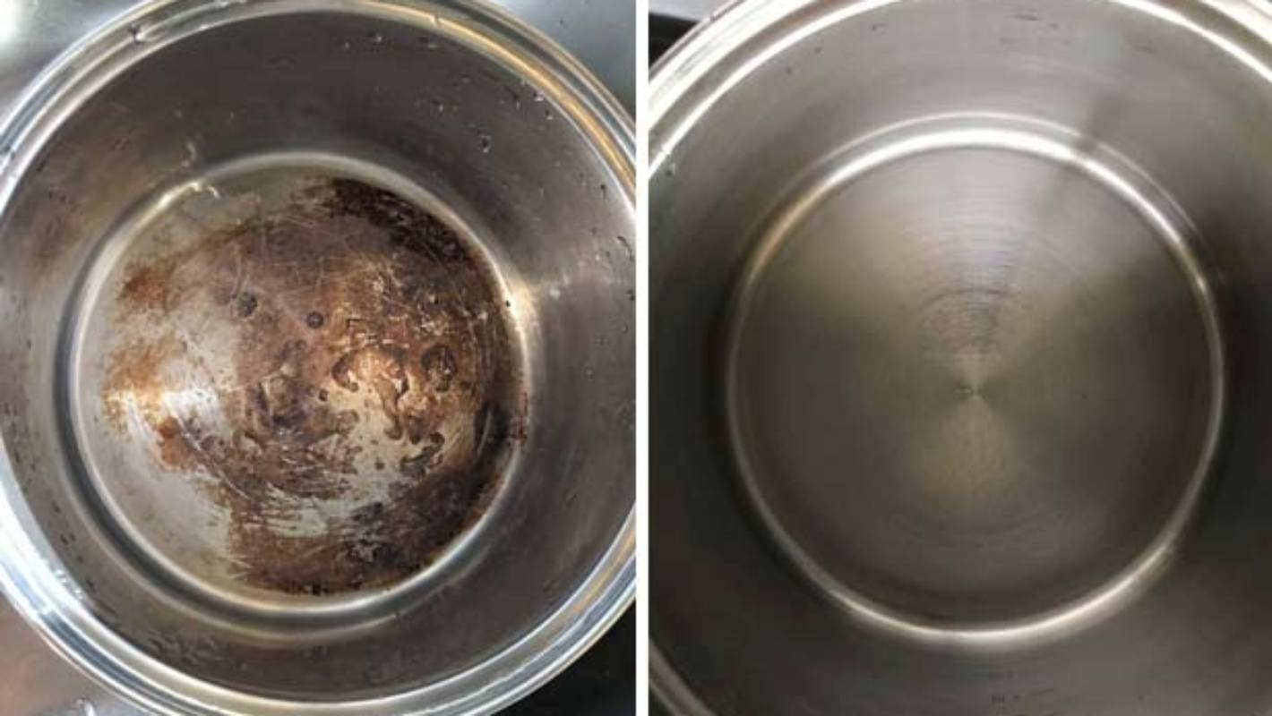 Home Hack How One Mum Cleaned A Burnt Pot Stuff Co Nz