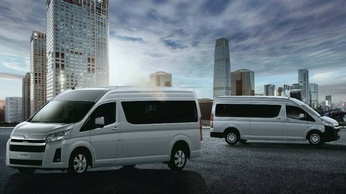 Formerly old-school Toyota Hiace is moving to a semi-bonnet design: safer, more space-efficient.