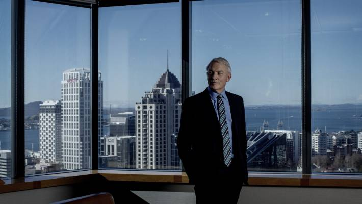 Auckland Super City mayor Phil Goff at his office.