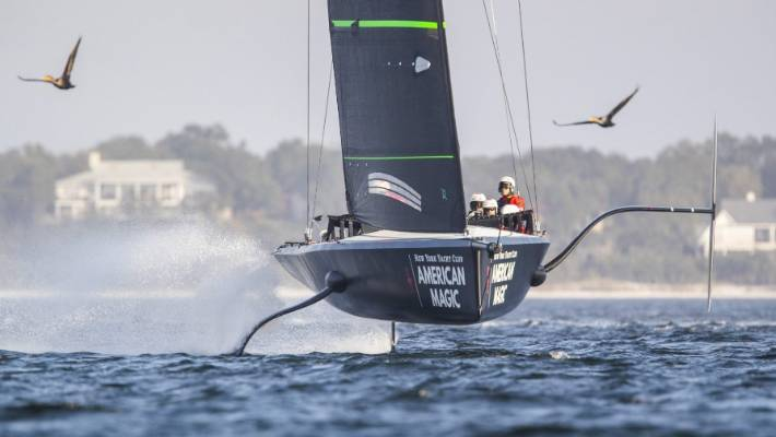 The New York Yacht Club have made the most out of their testing programme in Florida where they have had their scaled-down America's Cup boat flying.