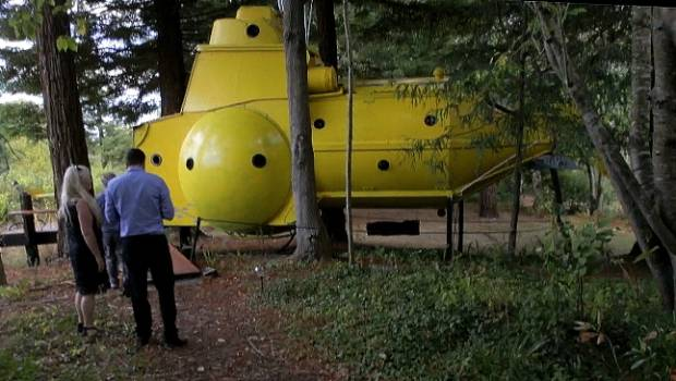 Kiwi couple's handcrafted yellow submarine offers Beatles