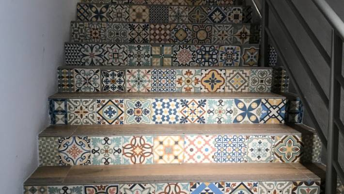 The Heritage mix from Tile Trends has a Moroccan influence.