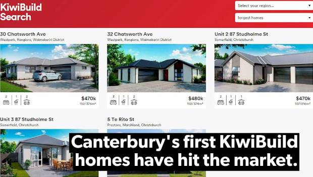 Another Canterbury Kiwibuild house hits the market for the
