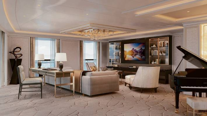 The Regent Suite includes a pretty swanky living room.