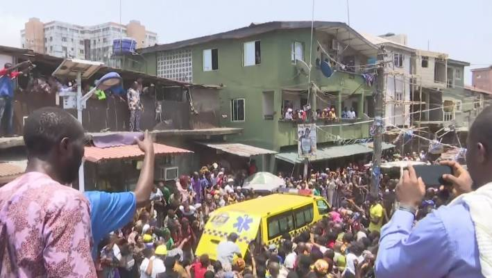 Scores of children are feared trapped after the school collapsed in Nigeria