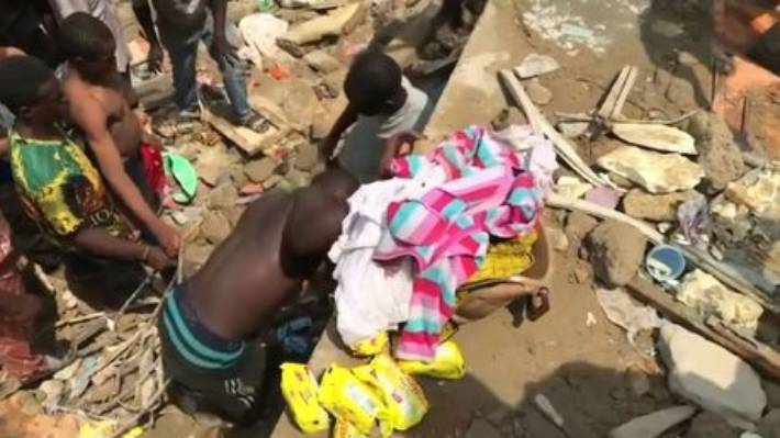 Building collapses in Lagos, pupils trap in rubbles