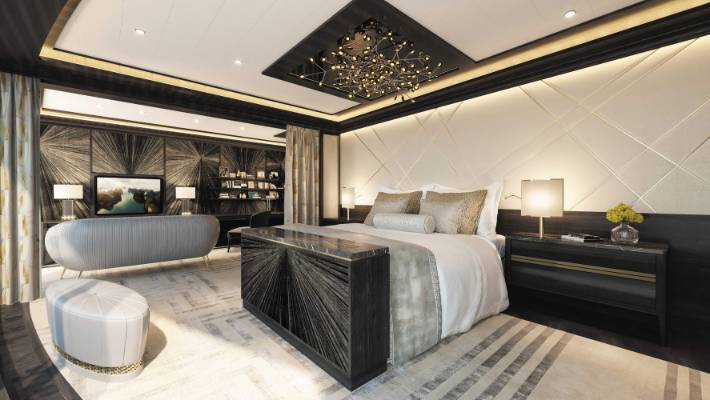 The Regent Suite on the new Seven Seas Splendor will cost more than $16,000 per night and includes the world's most expensive bed.