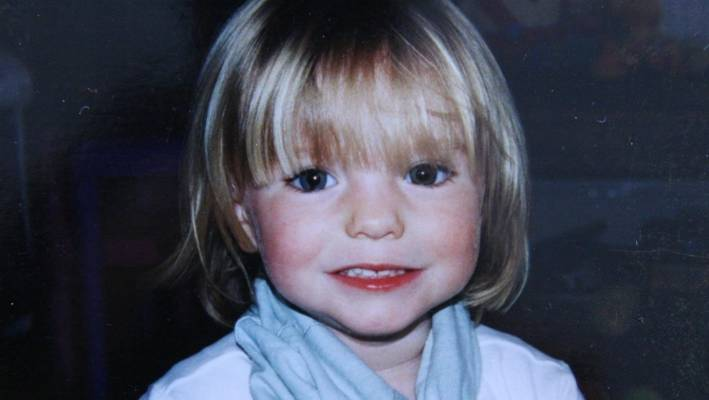Press a picture of Madeleine McCann when she disappeared in 2007.