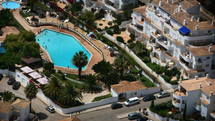 The hotel was in Portugal where Madeleine McCann and the family were living when she disappeared.
