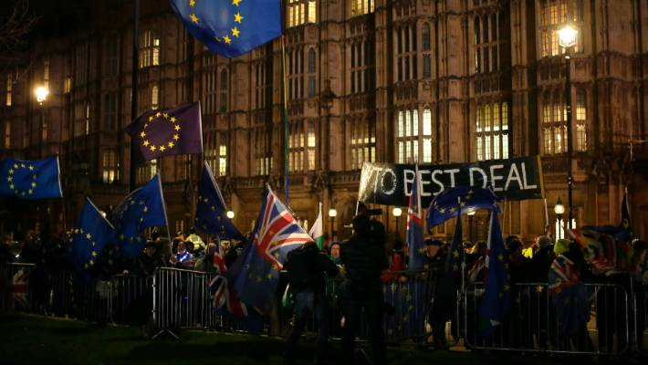 British lawmakers faced another tumultuous day ahead of a vote on whether to request a delay to the country's scheduled departure from the EU.