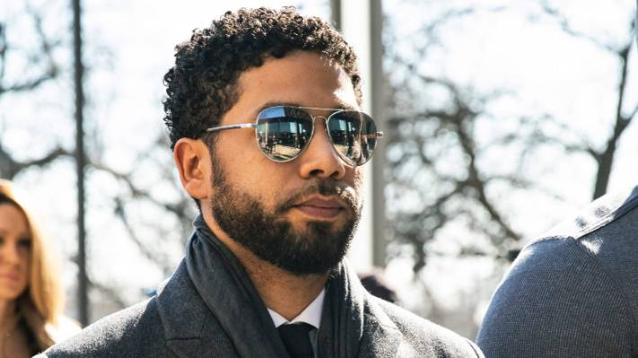 Jussie Smollett arrives at court where he pleaded not guilty