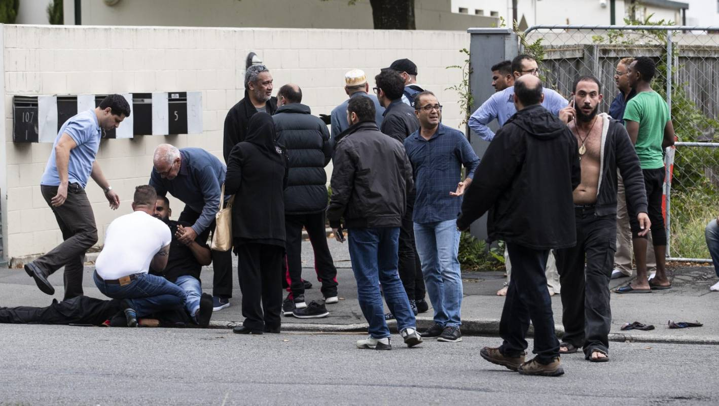 Shooting In Christchurch Picture: Prayer Time Turns To Terror For Christchurch Shooting