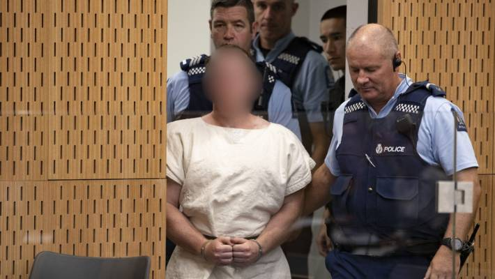 The man charged in relation to the Christchurch mosque shooting Brenton Tarrant appeared in court on Saturday