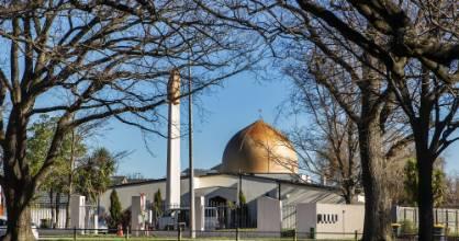"The Masjid Al Noor opposite Hagley Park in Christchurch. Al Noor, in Arabic, means ""the light""."