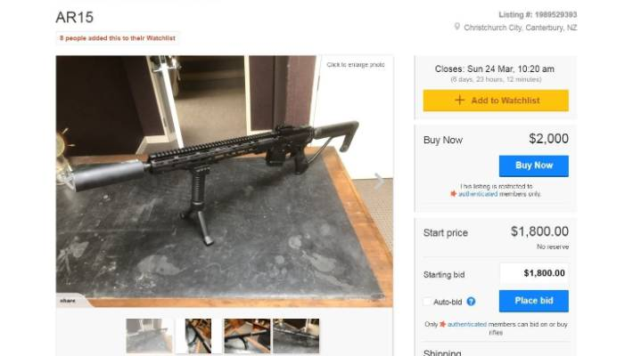 Trade Me bans semi-automatic gun sales following