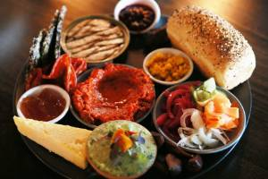 """Mr Pickles' shared plates are bright with vegetables, cheeses, charcuterie, as well as """"weird & wonderful"""" items."""