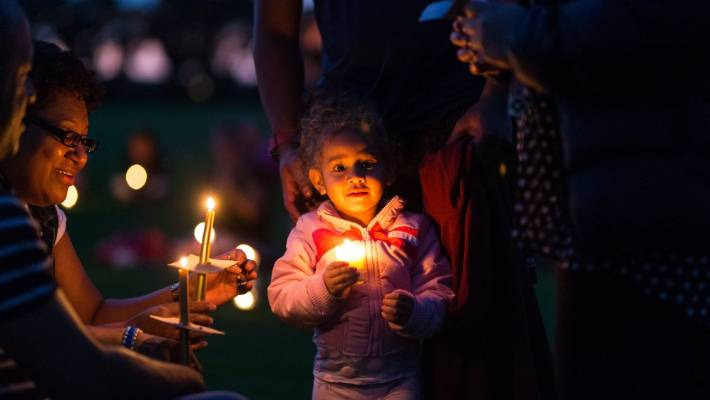 Candles light up Bell Block park at vigil for victims of the Christchurch mosque shootings