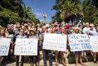 The Nelson community showed their solidarity with the Christchurch shooting victims at a gathering at the Cathedral ...