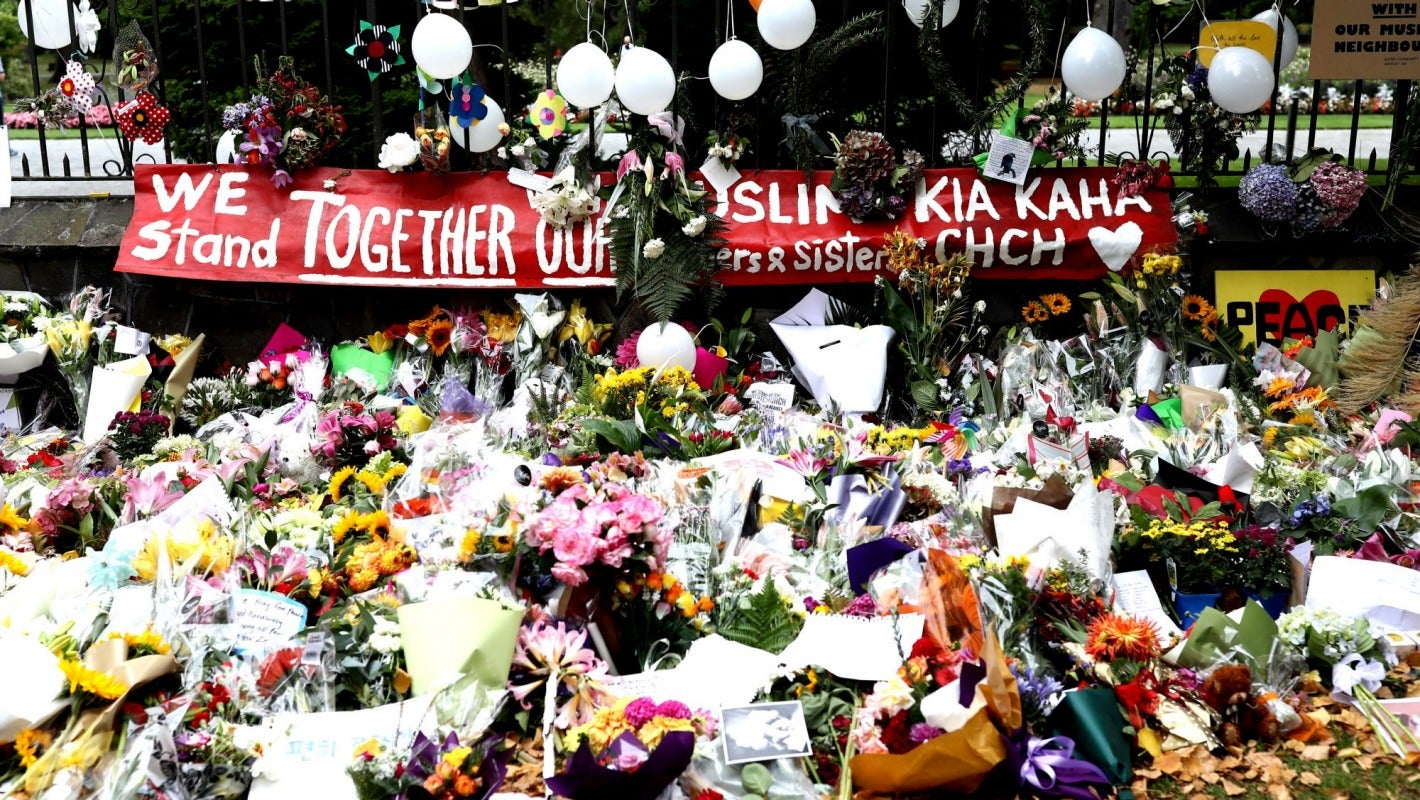 Floral outpouring to be honoured after Christchurch terror attack