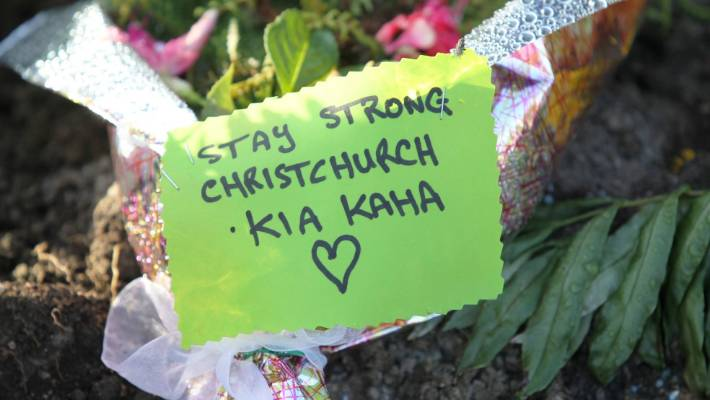 The Central North Island town of Tokoroa shows it is standing with Christchurch.