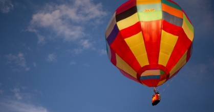 No picturesque balloon flying could take place Tuesday morning, as heavy drizzle put off the first day of flying at ...