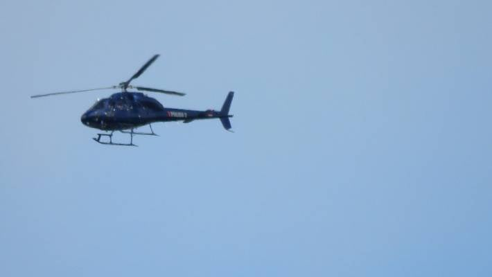 Police helicopter over Christchurch bringing back February quake