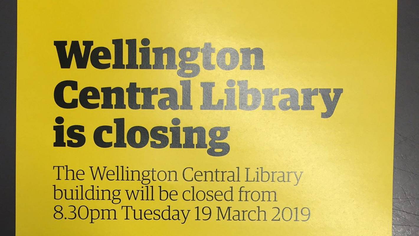 Image result for library closed wellington
